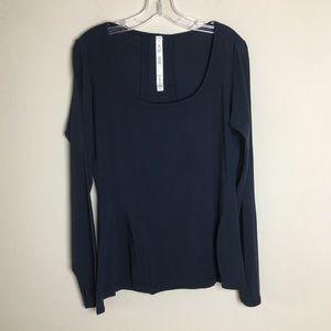 Lululemon Navy Long Sleeve Top Size 12